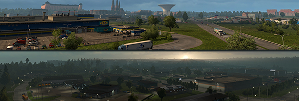 Cities in ETS2 SCandinavia