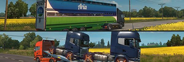 New trailers in ETS2 Scandinavia